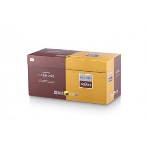 Cápsulas de café cremoso biodegradables Novell - 50 Cápsulas