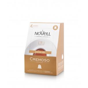 Cápsulas de café cremoso compatibles - 10 ud