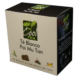 Té Blanco Pai Mu Tan en bolsas piramidales - 20 ud