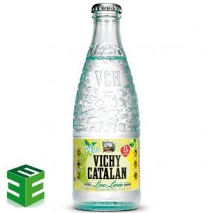 Caja de 24 de Vichy Catalán Lima-Limón Retornable