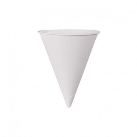Vasos de papel de cono 118ml - 200 ud